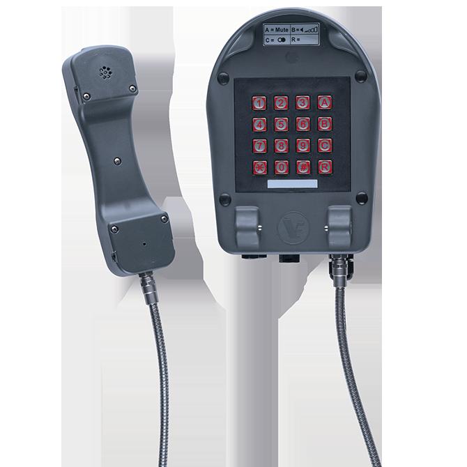 Nachrichtentechnik Industrie telefon wettersicher A24/VoIP