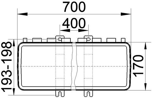 Maßzeichnung m1812002 Draufsicht